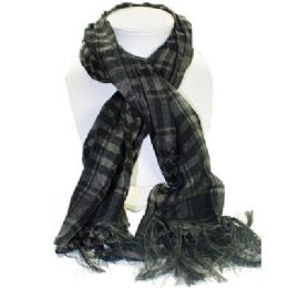 72 Units of Palestine Scarves In Grey And Black - Womens Fashion Scarves