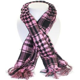 36 Units of Palestine Scarves In Pink And Black - Womens Fashion Scarves
