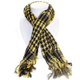36 Units of Palestine Scarves In Yellow And Black - Womens Fashion Scarves