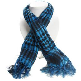 36 Units of Palestine Scarves In Blue And Black - Womens Fashion Scarves
