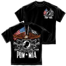 10 Units of T-Shirt 018 Double Flag Eagle Pow Medium Size - Boys T Shirts