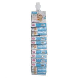 96 Units of Shower Cap HD - Clip Strip - Shower Caps