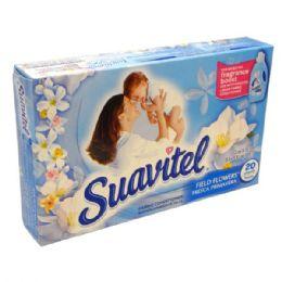 30 Units of Suavitel Dryer Sheet 20CT Field Flowers - Laundry Detergent