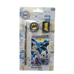 96 Units of Stationery Set 4pk DC Comics - Licensed School Supplies