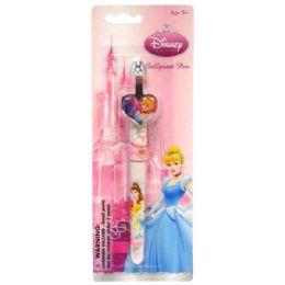 48 Units of Clip Pen Die Cast Princess - Licensed School Supplies