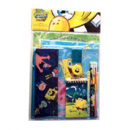 24 Units of 11PC Stationery Set Sponge Bob - Licensed School Supplies