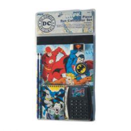 24 Units of 7PC Stationery Set DC Comics - Licensed School Supplies