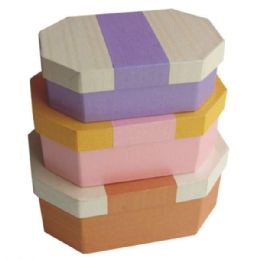 384 Units of Gift Box Octagon 3PCS ASTD Colors - Jewelry Box