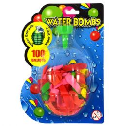 72 Units of Water Balloons 100ct W/ Filler - Water Balloons