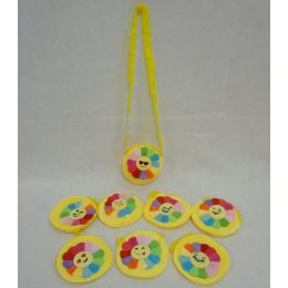 72 Units of 14cm Emoji Purse [Flower Petal Face] - Wallets & Handbags