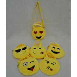 72 Units of 18cm Round Emoji Purse - Wallets & Handbags