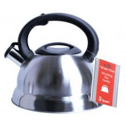 8 Units of 3 Quat Stainless Steel Whistling Tea Kettle - Kitchen Gadgets & Tools