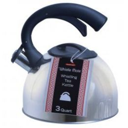 8 Units of 3 Qt. Stainless Steel Whistling Tea Kettle - Kitchen Gadgets & Tools