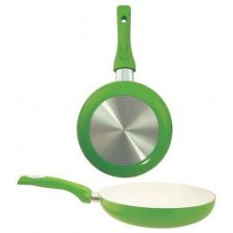 "8 Units of 9.5"" Ceramic Fry Pan - Green - Frying Pans and Baking Pans"