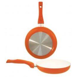 8 Units of Ceramic Fry Pan Orange - Frying Pans and Baking Pans