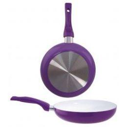 "8 Units of 11"" Ceramic Fry Pan - PURPLE - Frying Pans and Baking Pans"