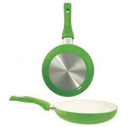 8 Units of Ceramic Fry Pan Green - Frying Pans and Baking Pans