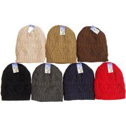 48 Units of Knit Ski Hat-Fur Lining