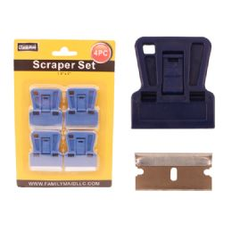 "96 Units of Scraper 4pc/set 1.6""x2"" Blue - Paint and Supplies"