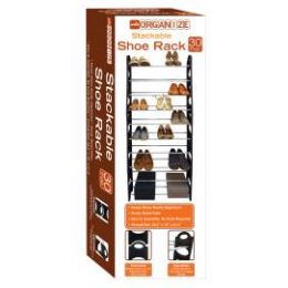 6 Units of 30-Pair Stackable Shoe Rack