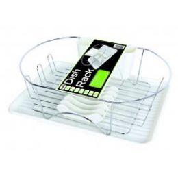 6 Units of DELUXE CHROME DISH RACK - WHITE - Dish Drying Racks
