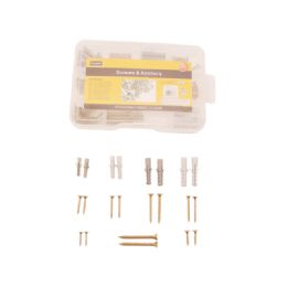 72 Units of 86pc Screws And Anchors With Tool Box - Drills and Bits