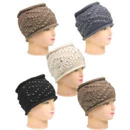 36 Units of Funky Beanie Hats - Ear Warmers