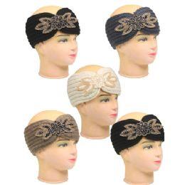 36 Units of Knitted Women Woolen Headband - Ear Warmers