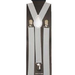 48 Units of Silver Color Suspender - Suspenders
