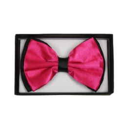 48 Units of Bowtie 027 Two Tone Hot Pink - Bows & Ribbons