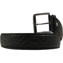 36 Units of Men's Fashion Black Belt - Mens Belts