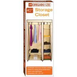5 Units of Storage Closet Beige And Brown - Storage & Organization
