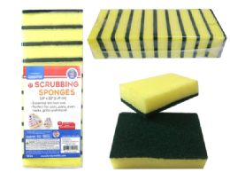 24 Units of 10 Piece Scrubber Pads - Scouring Pads & Sponges