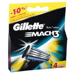 24 Units of Gillette Mach 3 Refill 4PK - Shaving Razors