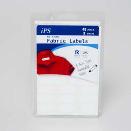 72 Units of No Iron White 45ct Writeable Fabric Labels - Labels ,Cards and Index Cards