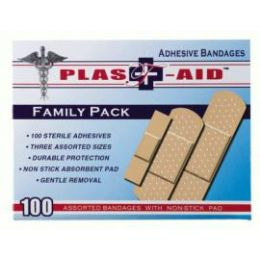 144 Units of 100 Ct Doctor's Aid Adhesive Bandages - First Aid and Bandages