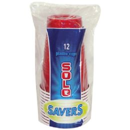 24 Units of SOLO PLASTIC CUP 12 COUNT 16 OUNCE - Disposable Cups