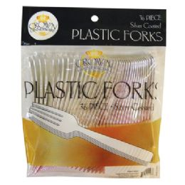 24 Units of Crown Plastic Dinnerware Cutlery - Disposable Cutlery