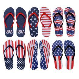 96 Units of Womens Usa Flip Flops - Women's Flip Flops