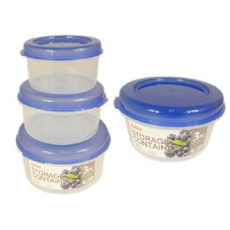 48 Units of 3 Piece Round Food - Food Storage Containers