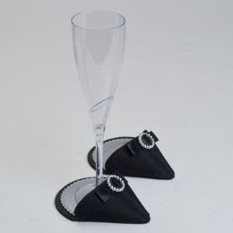 60 Units of Party Shoes Coasters 1 Pair Black Party Shoe - Coasters & Trivets