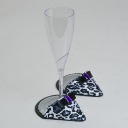 60 Units of Party Shoes Coasters 1 Pair Cheetah Party Shoe - Coasters & Trivets