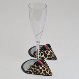 60 Units of Party Shoes Coasters 1 Pair Leopard Party Shoe - Coasters & Trivets