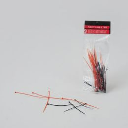 48 Units of Cable Ties 100ct 3asst Size Red/white/black Mixed Pb On 12pc Mdsg Strip - Wires