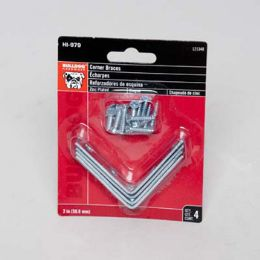 72 Units of 4ct 2in Zinc Plated Corner Braces W/screws Bulldog Carded - Drills and Bits
