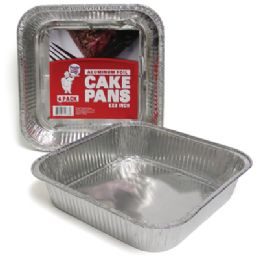 48 Units of Square Foil Cake Pan - Aluminum Pans