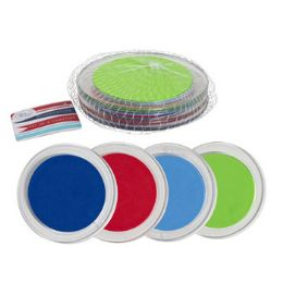 48 Units of 4 Pack Plastic Coaster - Coasters & Trivets