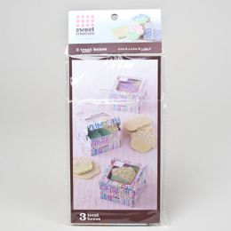 72 Units of Cookie Boxes 3pk Small Delish - Baking Supplies