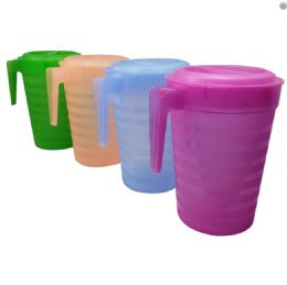 36 Units of 1 Gallon Plastic Pitcher With Lid - Plastic Drinkware