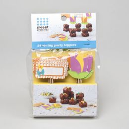 72 Units of Cupcake Toppers 24ct Spring - Baking Supplies